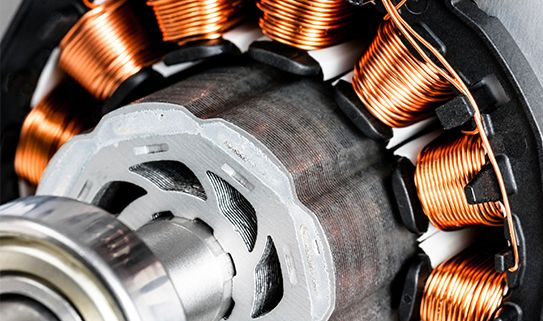 Brushless motors produce less heat and are highly efficient