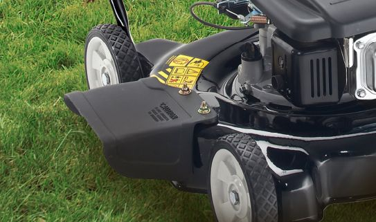 A side discharge is ideal for cutting high grass