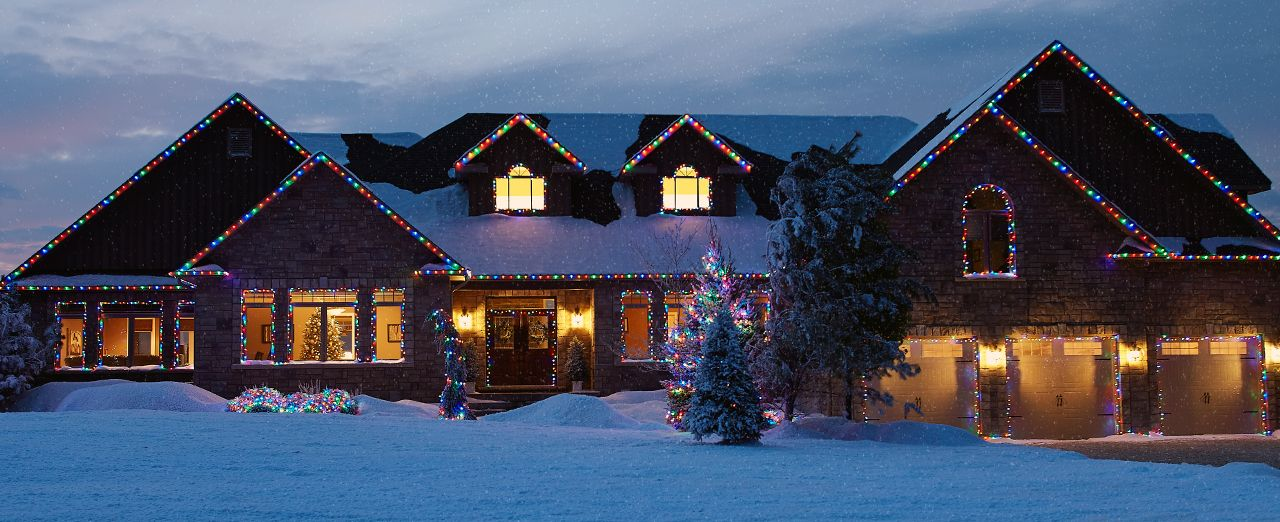 How to install Christmas lights. Play video