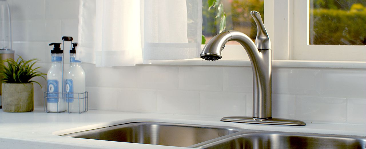 How to install a kitchen faucet. Play video