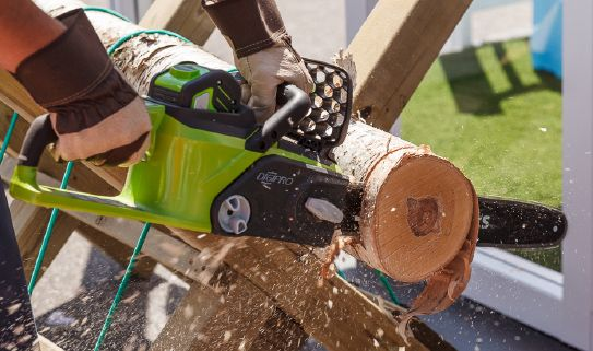 Check out our easy-start cordless chainsaws