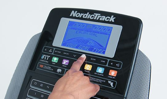 Track time, distance and calories burned with an LCD console