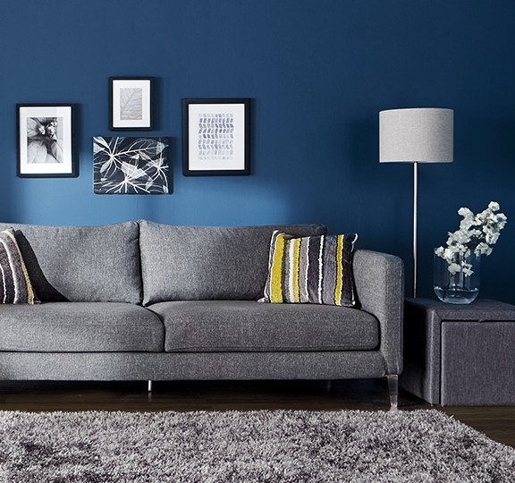 Create dramatic living rooms with Premier paint.