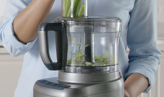 Medium-sized food processors have a capacity of 7 to 9 cups