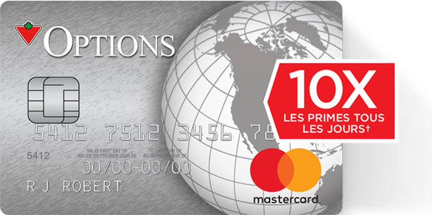 MasterCard Options de Canadian Tire