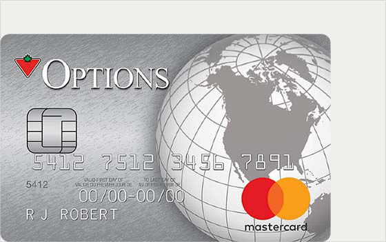 Canadian Tire Mastercard >> Options Mastercard