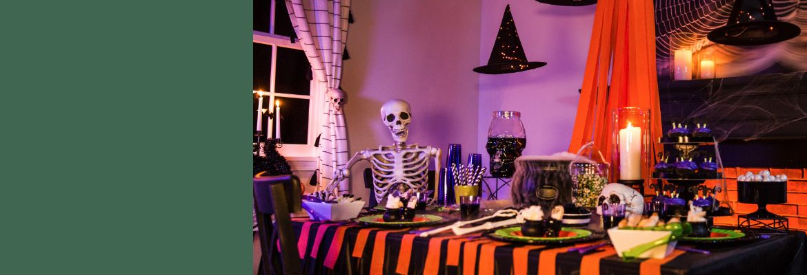 Summon your Halloween spirit by dressing up your house from porch to party table.