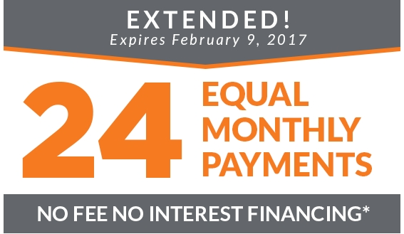 24 Months Equal Monthly Payments on all purchases storewide