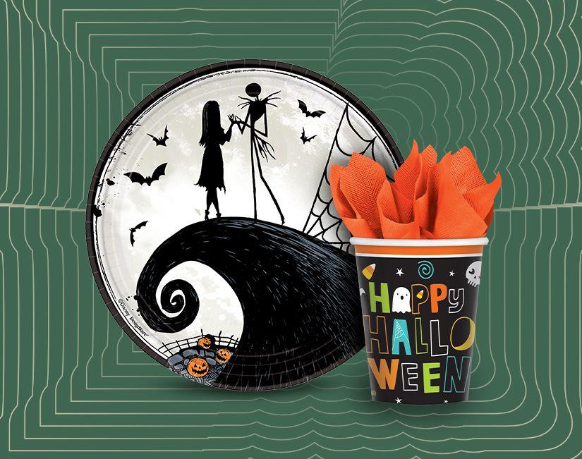 Vaisselle et plats de service d'Halloween